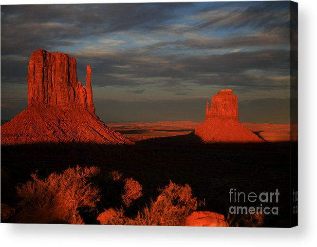 The Mittens Acrylic Print featuring the photograph The Mittens by Timothy Johnson