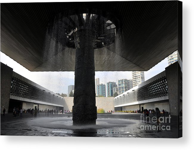 The National Museum Of Anthropology Acrylic Print featuring the photograph The National Museum Of Anthropology 2 by Andrew Dinh