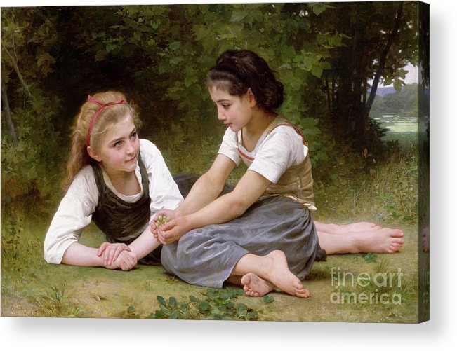 Nut Acrylic Print featuring the painting The Nut Gatherers by William-Adolphe Bouguereau