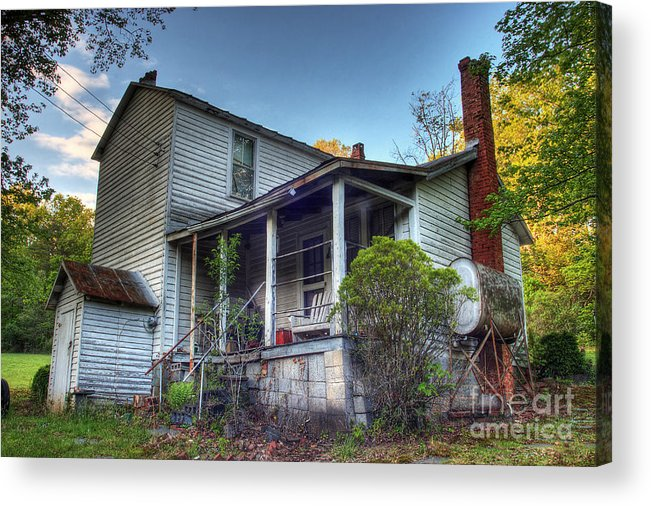 Landscape Acrylic Print featuring the photograph The Old Home Place by Pete Hellmann