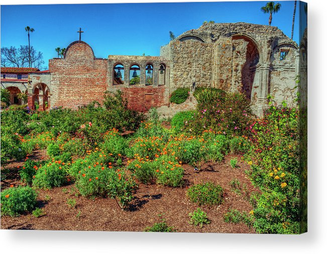 Architecture Acrylic Print featuring the photograph The Old Mission by Stephen Campbell