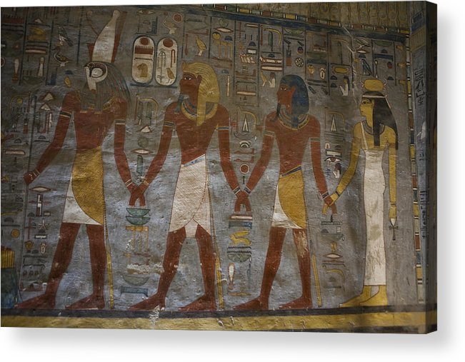 Africa Acrylic Print featuring the photograph The Painted Walls Inside A Tomb by Taylor S. Kennedy