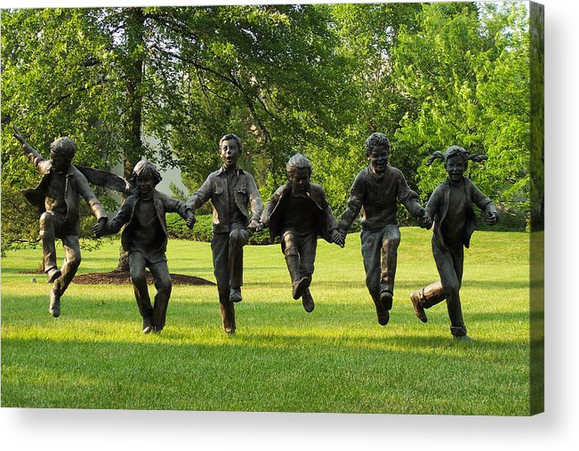 Puddle Jumpers Acrylic Print featuring the photograph The Puddle Jumpers At Byers Choice by Trish Tritz