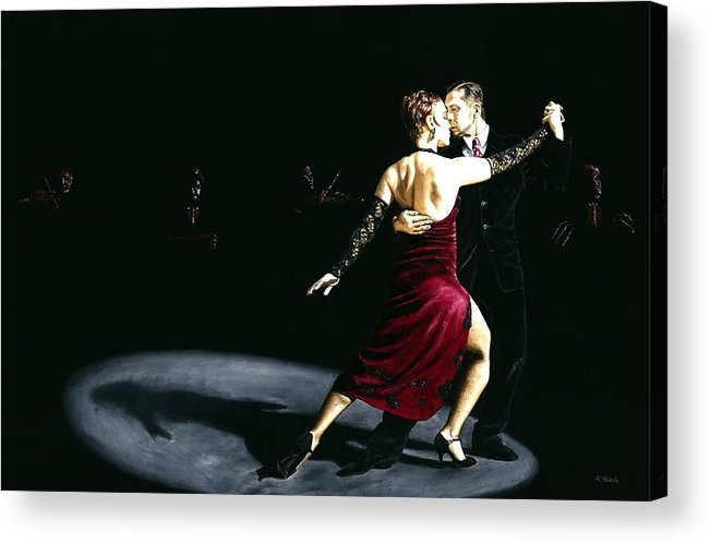 Tango Acrylic Print featuring the painting The Rhythm Of Tango by Richard Young