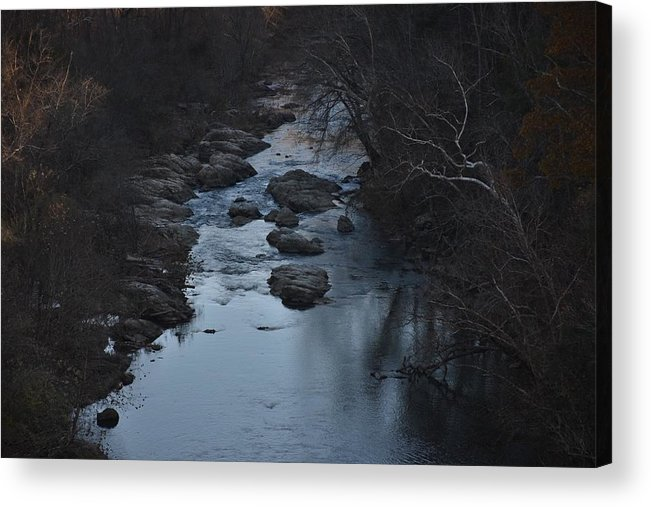 River Acrylic Print featuring the photograph The Rivers Keep Secrets by Sanctuary of Words Gallery