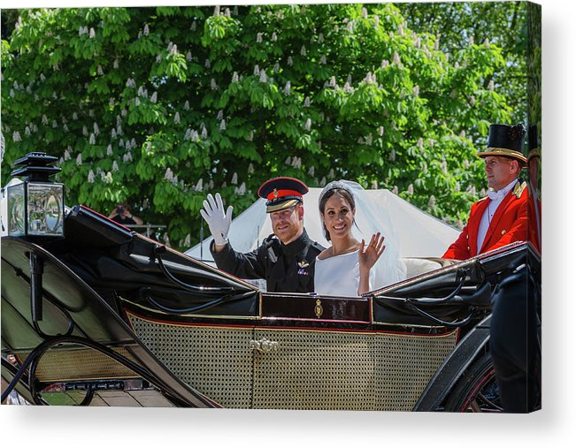 Meghan Markle Acrylic Print featuring the photograph The Royal Wedding Harry Meghan by Andy Myatt