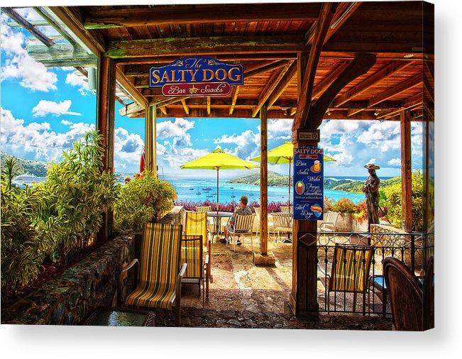 The Salty Dog Cafe Acrylic Print featuring the photograph The Salty Dog Cafe St. Thomas by Keith Allen