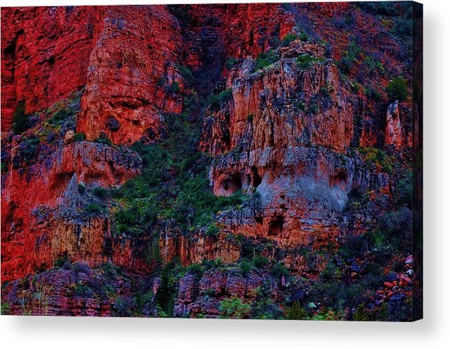 Red Rocks Acrylic Print featuring the photograph The Secret Keepers by Helen Carson