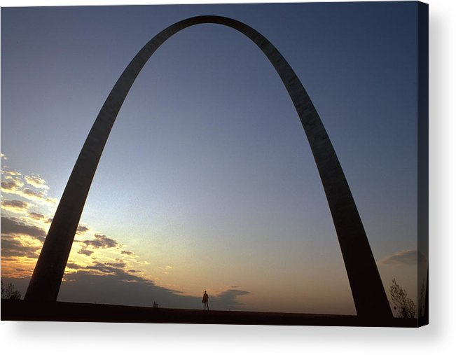 Landmark Acrylic Print featuring the photograph The St. Louis Arch by Carl Purcell