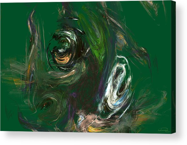 Abstract Acrylic Print featuring the painting The Strange Flower by Emma Alvarez