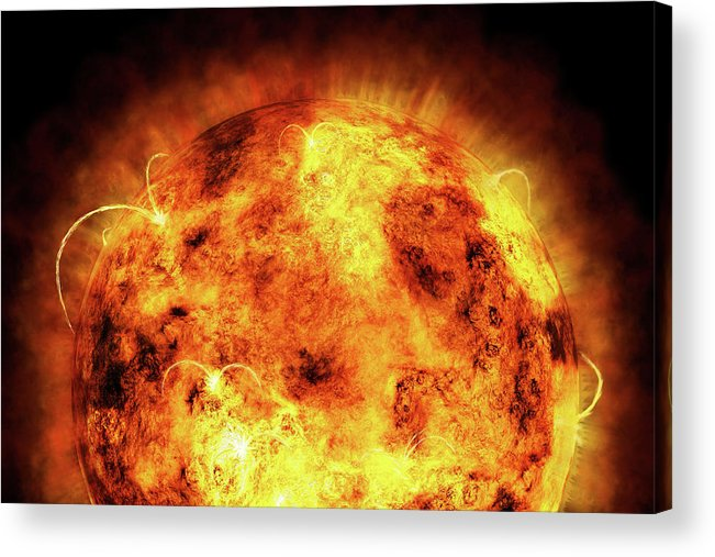 Sun Acrylic Print featuring the digital art The Sun by Michael Tompsett