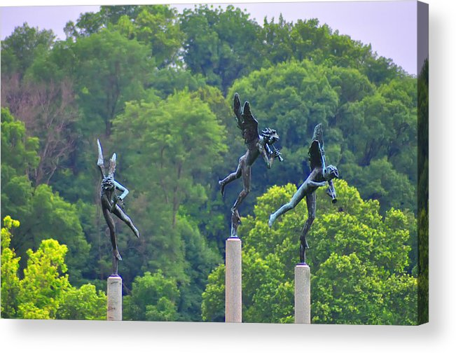 Angels Acrylic Print featuring the photograph The Three Angels by Bill Cannon