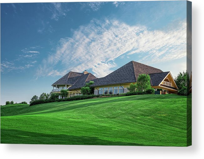 Golf Acrylic Print featuring the photograph The Virtues Golf Course Clubhouse by Tom Mc Nemar