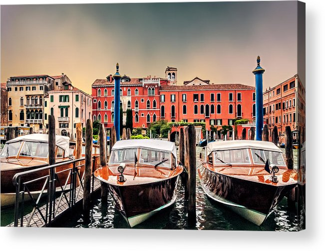 Architecture Acrylic Print featuring the photograph Three Boats by Maria Coulson
