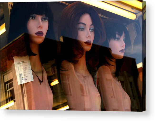 Jez C Self Acrylic Print featuring the photograph Three Mannequteers by Jez C Self