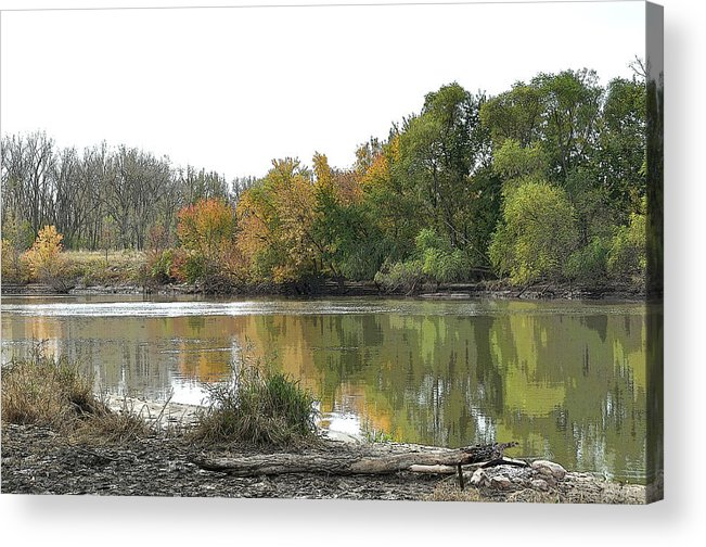 River Acrylic Print featuring the photograph Three Seasons by Robert Comstock