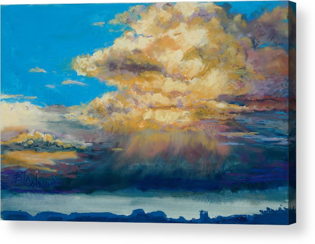 Storm Clouds Acrylic Print featuring the painting Thundeclouds by Billie Colson