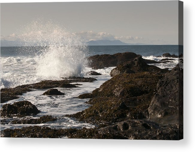 Waves Acrylic Print featuring the photograph Tide Pool Wave by Chad Davis