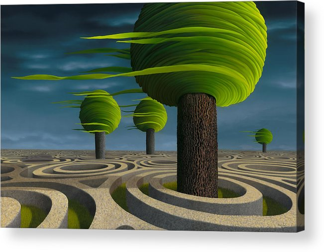 Tree Acrylic Print featuring the painting Tilia Arbora by Patricia Van Lubeck
