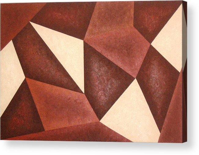 Brown Acrylic Print featuring the painting Time And Place by Sophia Elise