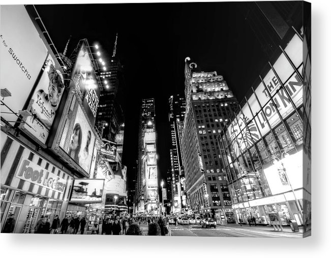 Times Square Acrylic Print featuring the photograph Times Square Don't Shine As Bright As You by Ariane Moshayedi
