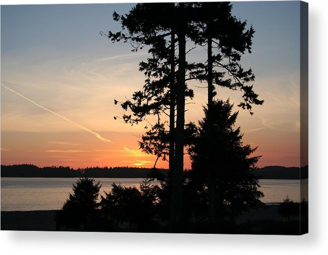 Sunset Acrylic Print featuring the photograph Tofino Sunset IIi Ss 1031 by Mary Gaines