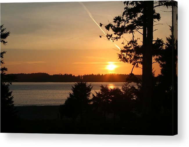 Sunset Acrylic Print featuring the photograph Tofino Sunset Ss1027 by Mary Gaines