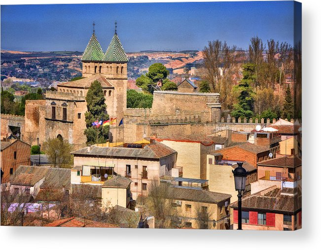 Ancient Acrylic Print featuring the photograph Toledo Town View by Joan Carroll