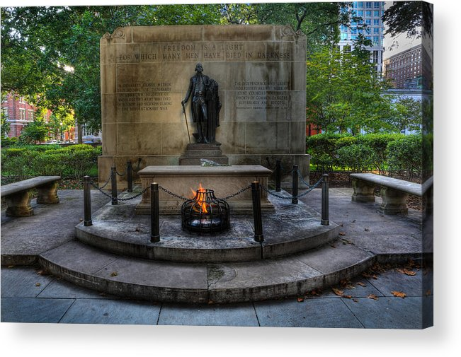 Lee Dos Santos Acrylic Print featuring the photograph Tomb Of The Unknown Revolutionary War Soldier - George Washington by Lee Dos Santos