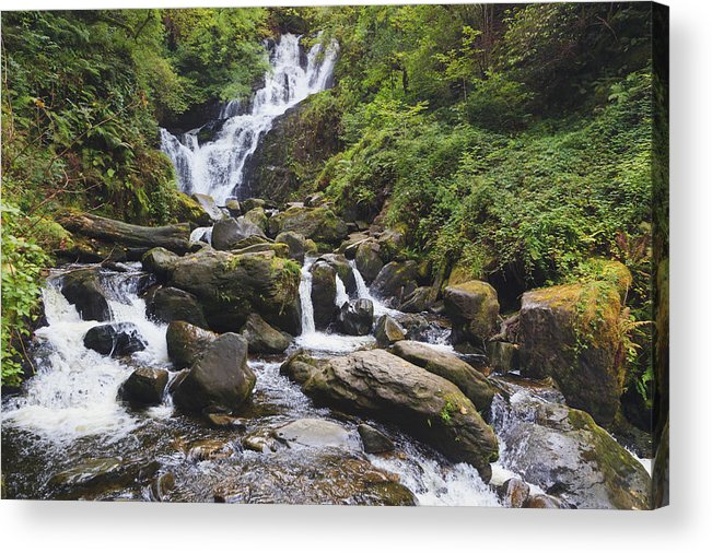 Resource Acrylic Print featuring the photograph Torc Waterfall In Killarney National by Ken Welsh