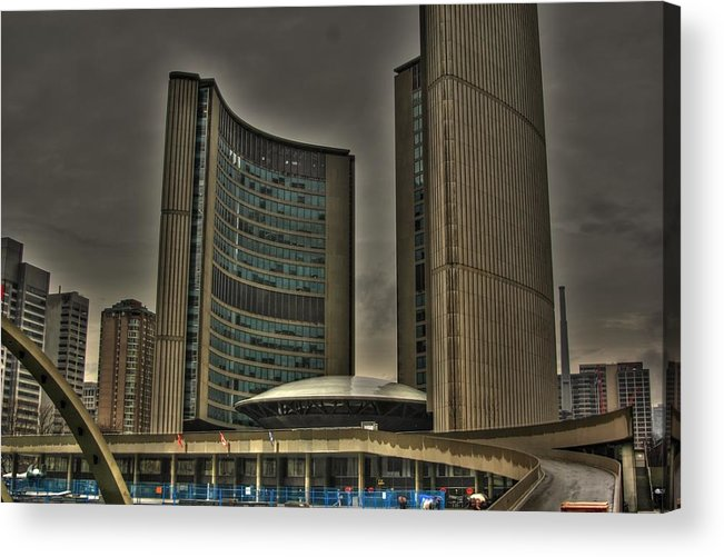 Rcouper Acrylic Print featuring the photograph Toronto City Hall by Rick Couper