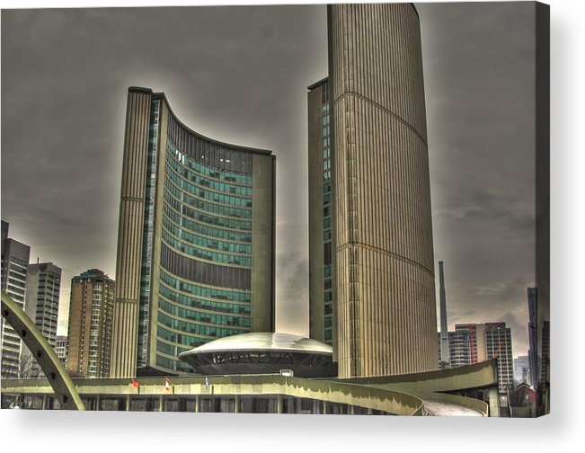 Rcouper Acrylic Print featuring the photograph Toronto City Hall2 by Rick Couper