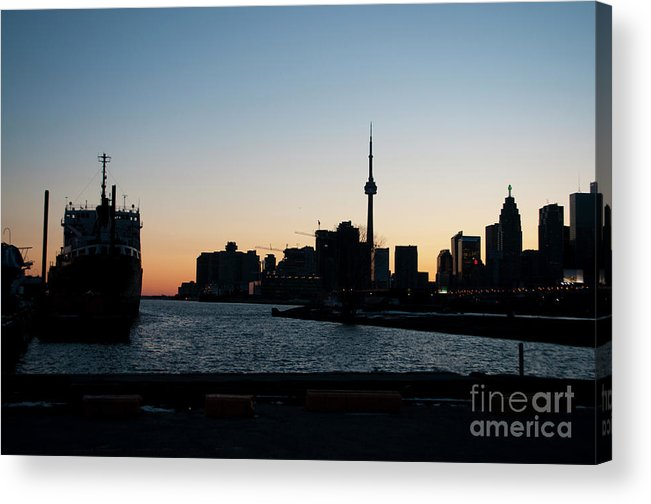 Cherry Street Acrylic Print featuring the photograph Toronto Downtown And Port by Gary Chapple