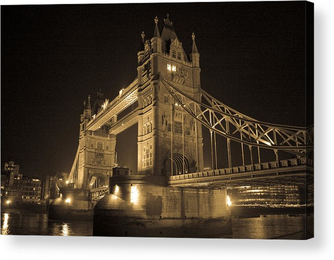 London Acrylic Print featuring the photograph Tower Bridge Of London by Joshua Francia