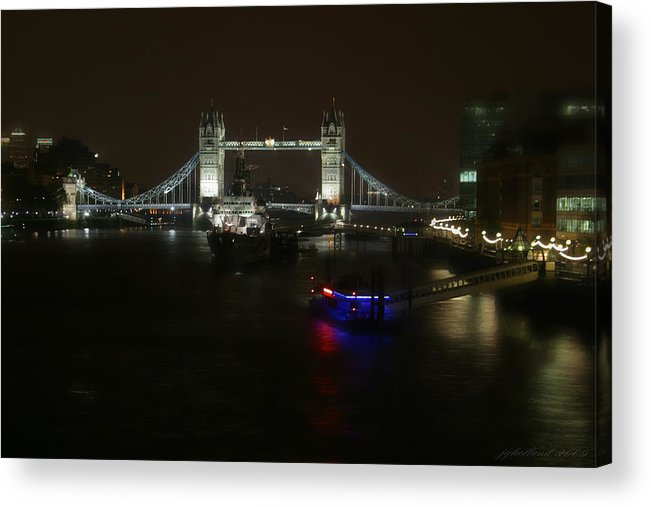 London Acrylic Print featuring the photograph Tower Over The Thymes by Joseph G Holland