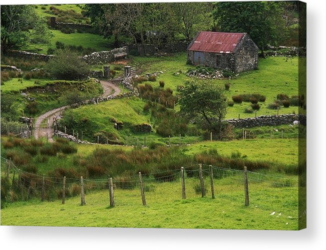 Color Image Acrylic Print featuring the photograph Traditional Cottages, Dan Oharas by The Irish Image Collection