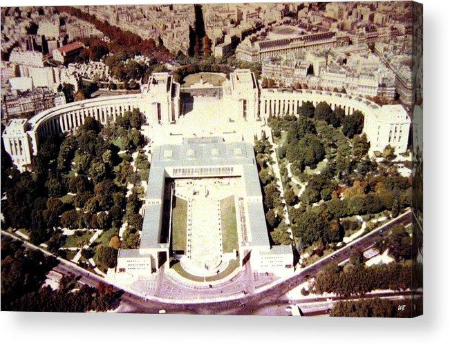 1955 Acrylic Print featuring the photograph Trocadero Palais De Chaillot 1955 by Will Borden