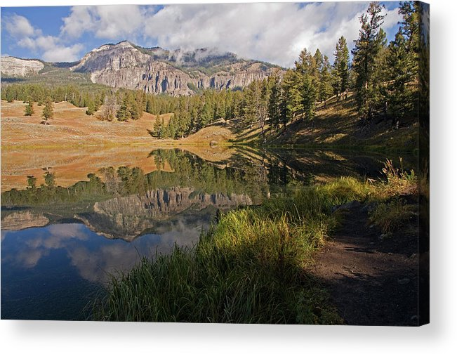 Horizontal Acrylic Print featuring the photograph Trout Lake, Yellowstone National Park by DBushue Photography