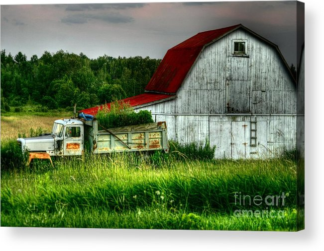 'truck Acrylic Print featuring the photograph Truck Load by David Hubbs