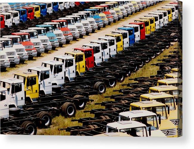 Truck Acrylic Print featuring the photograph Trucks by Amarildo Correa