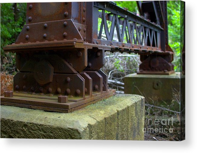 Trestle Acrylic Print featuring the photograph Trussed Trestle by The Stone Age