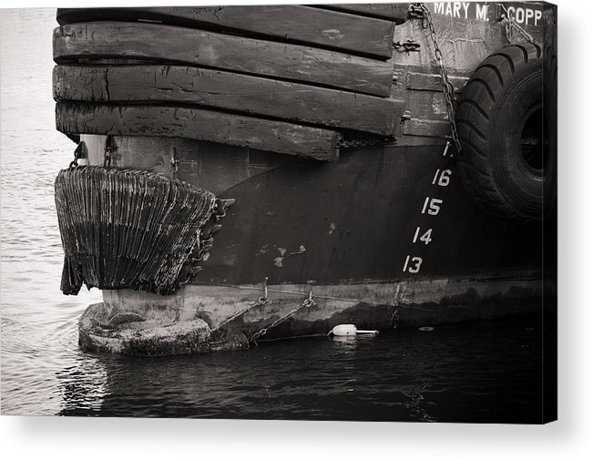 Ocean Acrylic Print featuring the photograph Tug Boat by Edward Myers