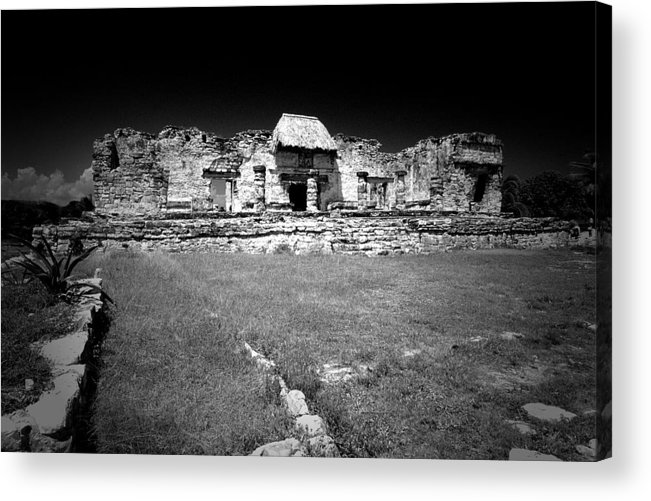 Landscapes Acrylic Print featuring the photograph Tulum Market Square by Tom Fant