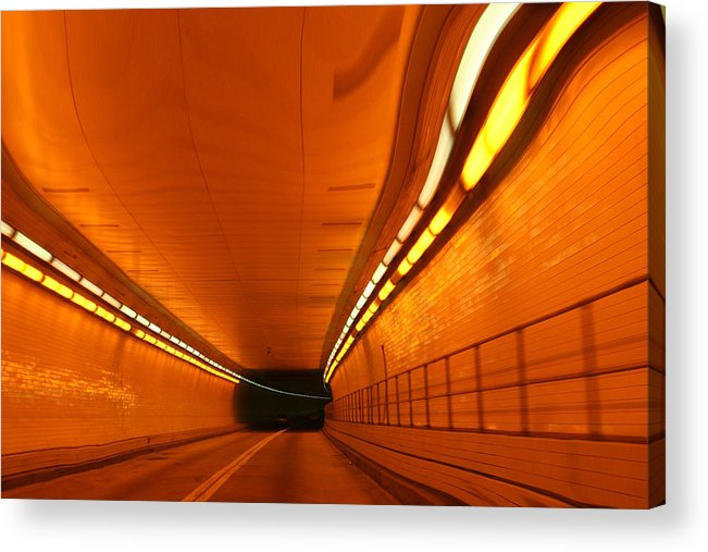 Tunnel Acrylic Print featuring the photograph Tunnel by Linda Sannuti