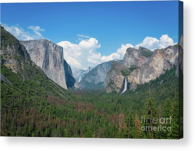 Yosemite Valley Acrylic Print featuring the photograph Tunnel View by Michael Ver Sprill