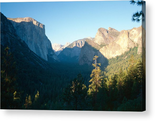California Acrylic Print featuring the photograph Tunnel View Yosemite Valley California by George Oze