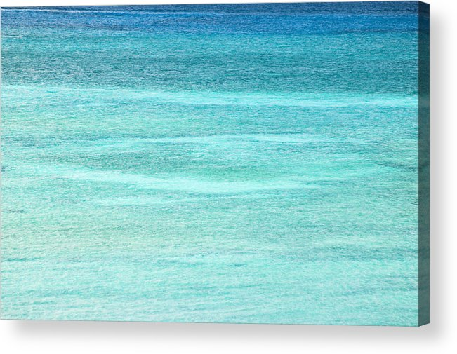 Nobody Acrylic Print featuring the photograph Turquoise Blue Carribean Water by James Forte