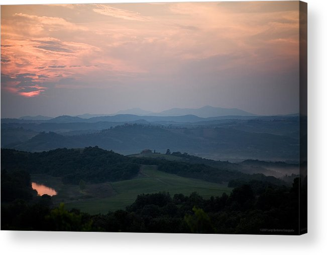 Italy Acrylic Print featuring the photograph Tuscany Sunset 2 by Luigi Barbano BARBANO LLC