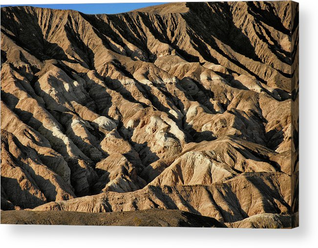 Death Valley National Park Acrylic Print featuring the photograph Unearthly World - Death Valley's Badlands by Christine Till