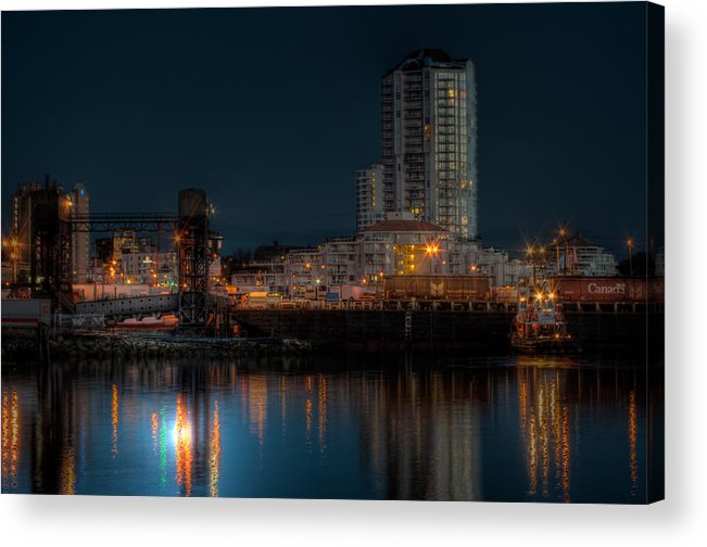 Barge Acrylic Print featuring the photograph Unloading The Morning Barge by R J Ruppenthal